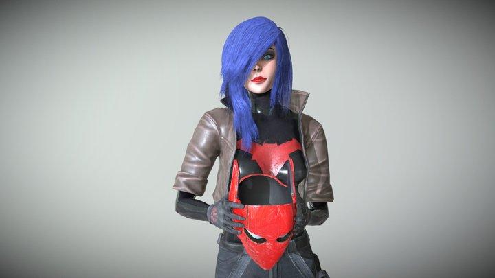 Red hood girl 3D Model