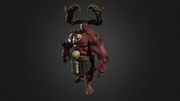 Wizard Demon 3D Model