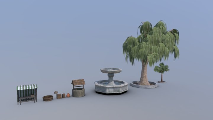 Medieval Props 3D Model