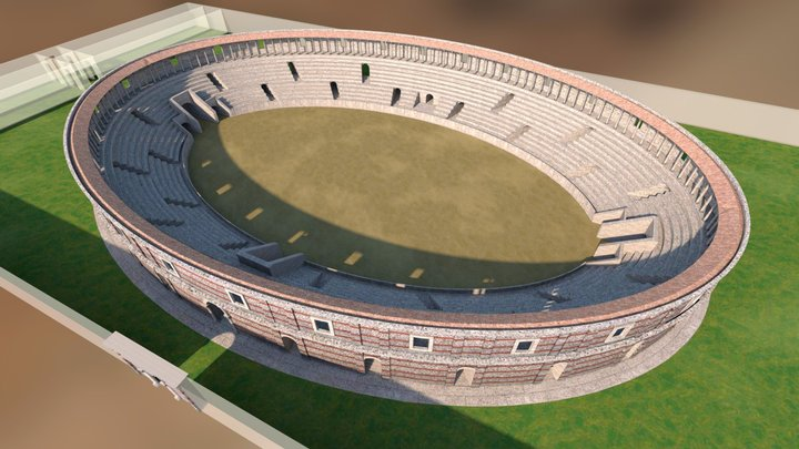 Libarna - Anfiteatro 3D Model
