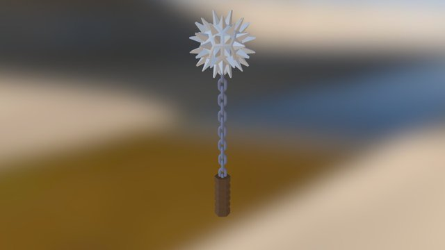 Low Poly Flail 3D Model