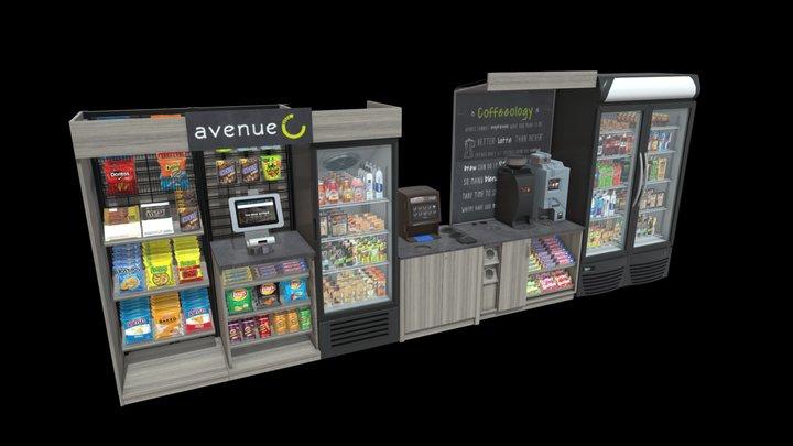 Mini Market 3D Model