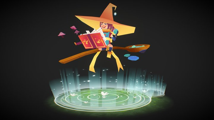 Mischievous Witch 3D Model