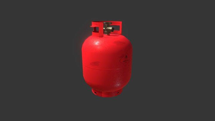 Propane Tank - Lowpoly PBR 3D Model