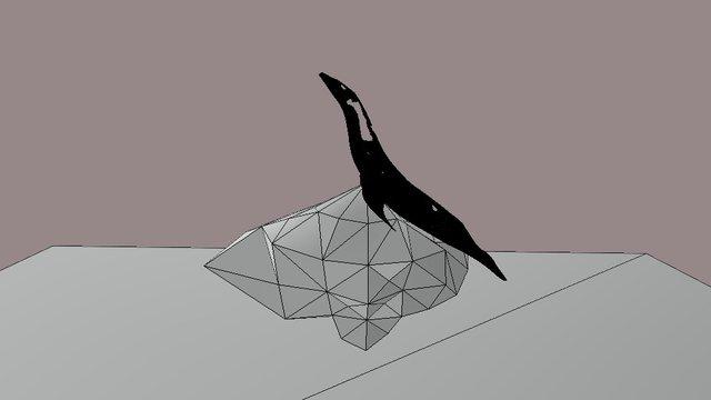 Foca Sobre Roca Zip 3D Model