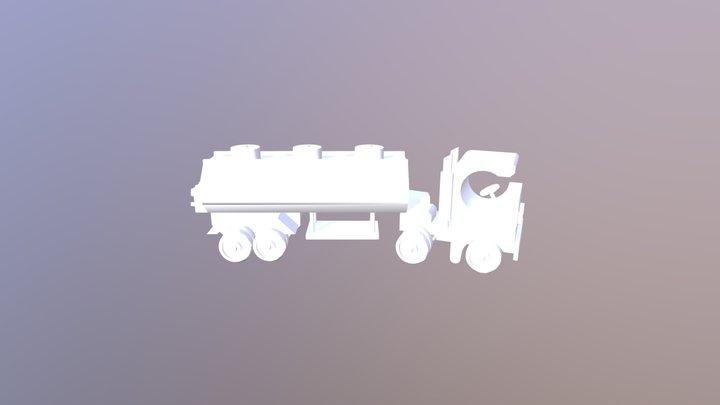 Toy+ Tank+ Trailer 3D Model
