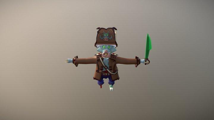 Pigrate 3D Model