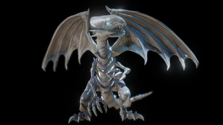 Blue Eyes White Dragon 3D Print Version. 3D Model