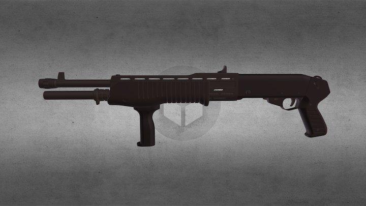SPAS 12 Gauge Shotgun 3D Model