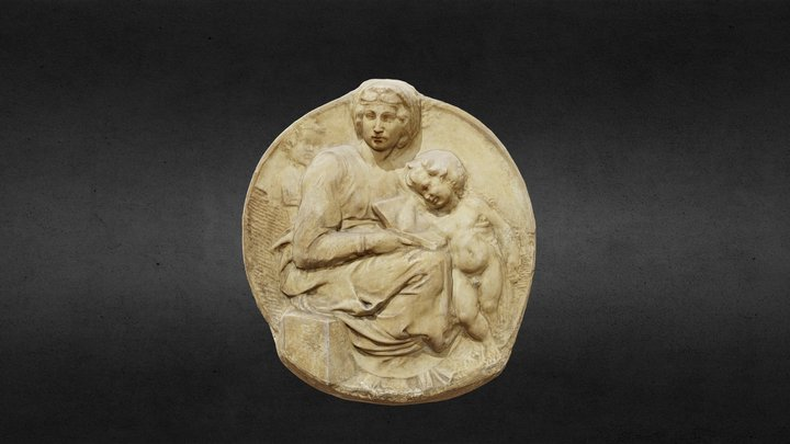 Madonna and Child, Michelangelo 3D Model
