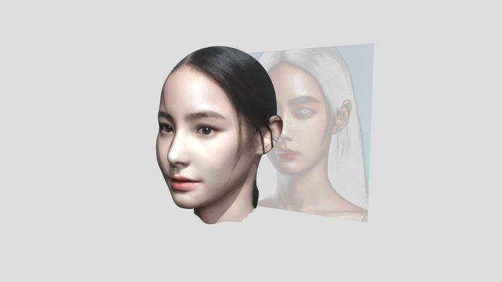 試著用一張照片做出人頭像 3D Model