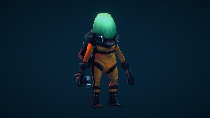 Space Engineer 3D Model
