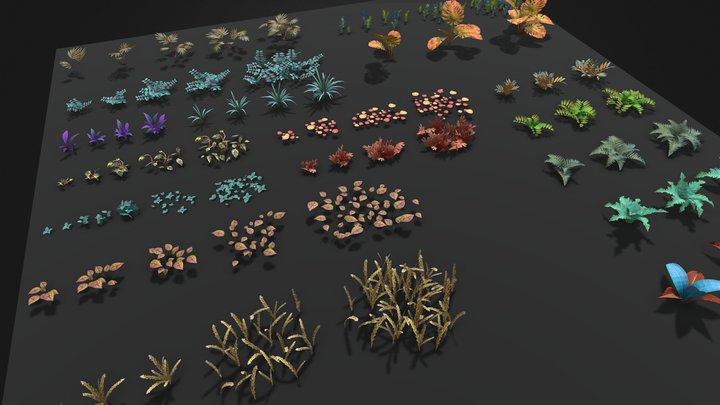 Custom Vegetation 3D Model