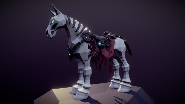 Lowpoly Despair Horse 3D Model