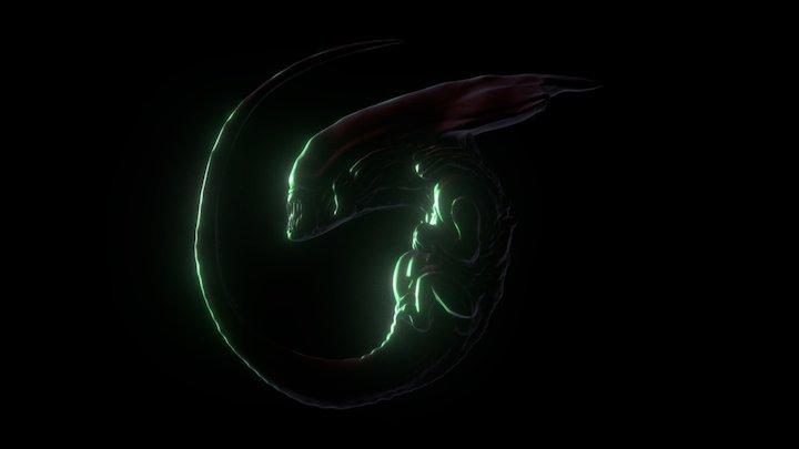 Alien Queen Embryo 3D Model