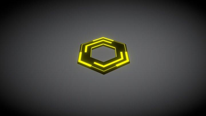 Sci-fi Coin 3D Model
