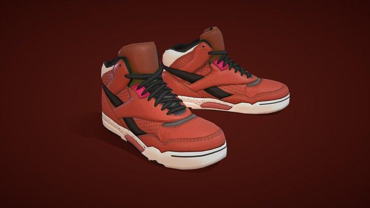 Brown Sneakers 3D Model