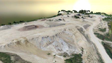 Limestone stockpiles 3D Model
