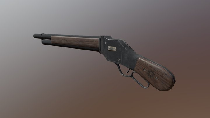 Winchester 1887 ( low poly ). 3D Model