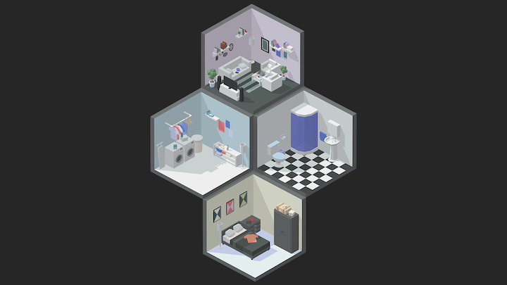 Isometric low poly artwork 3D Model