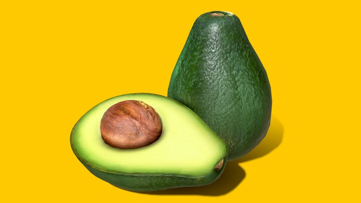 Photorealistic Realtime Avocado 3D Model