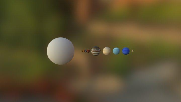 Sistema Solar Cra 3D Model