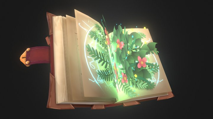 Book of Botany 3D Model