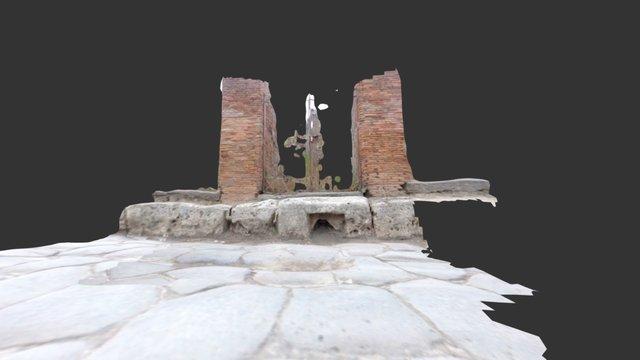 Drain on via Consolare, Pompeii 3D Model
