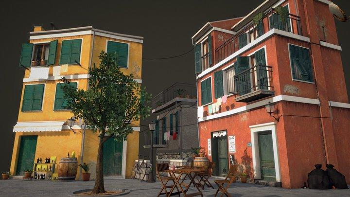 Cityscene Vernazza 3D Model