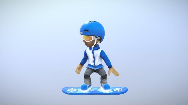 Snowboarder - Snow Zone 3D Model