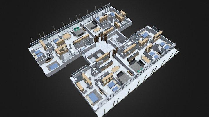 La Reserva - Módulo 21 - Planta Nivel 2-12 3D Model