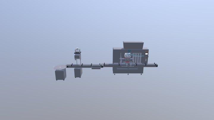 In-Line liquid filling machine 3D Model