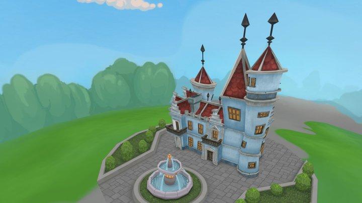 Lowpoly castle 3D Model