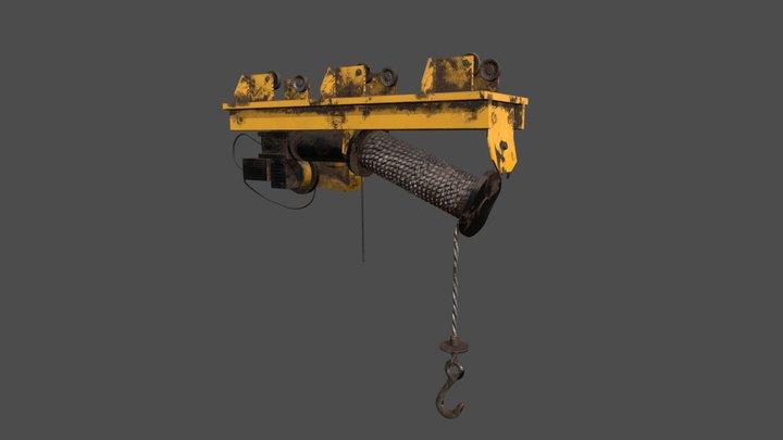 Defect Scifi Crane 3D Model
