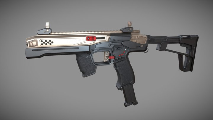 Light Service Carbine PDW LSC7.5 3D Model