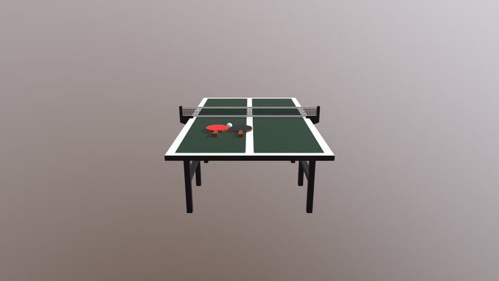 ping pong table (low poly) 3D Model