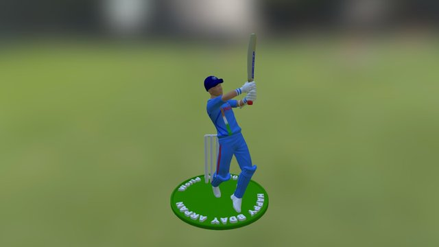 Dhoni World Cup 2011 Personalized Figurine 3D Model