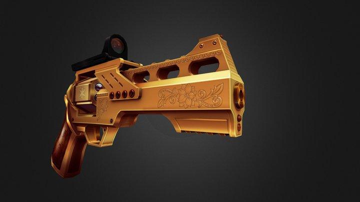 Xmas Gun 3D Model