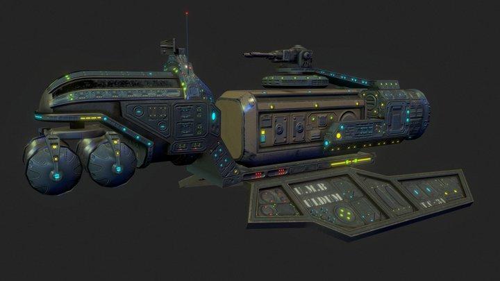 Low poly mother ship-Uldum 3D Model