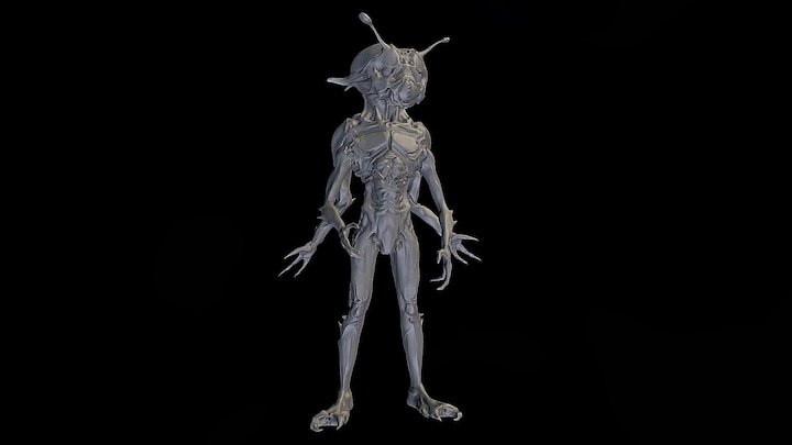 Bug Man 3D Model