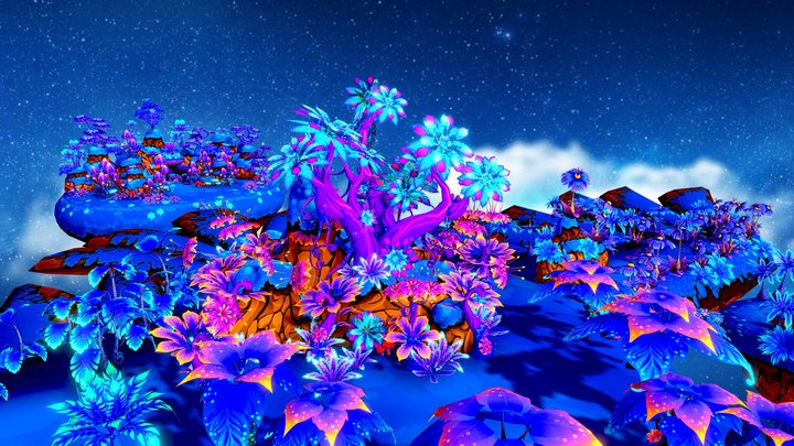 Mystic Forest - Land for mysterious plants 3D Model