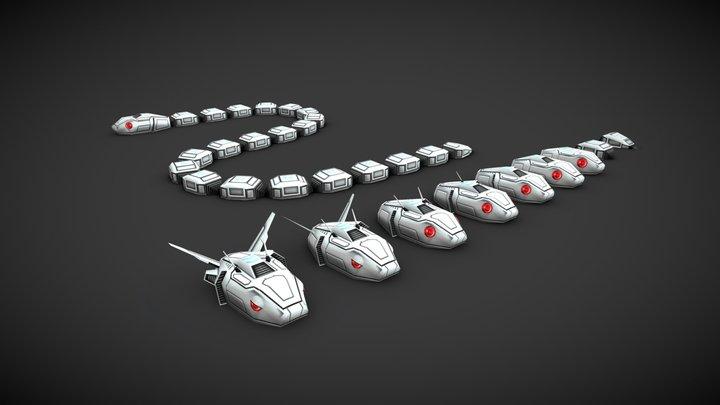 Cyber Snake 3D Model