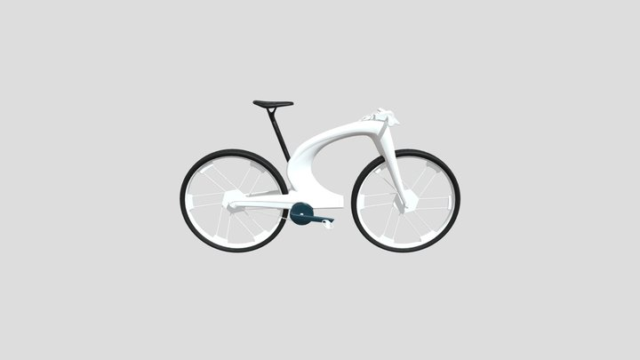Scifi Bicycle 3D Model