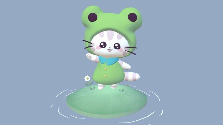 Froggie Kitty 3D Model