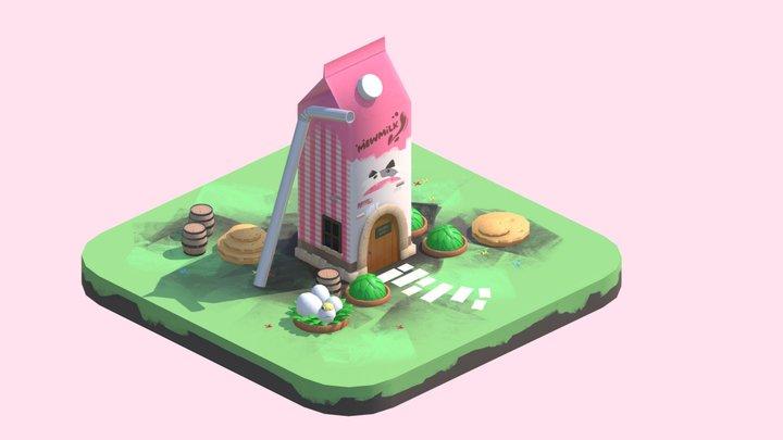 Milk House 3D Model
