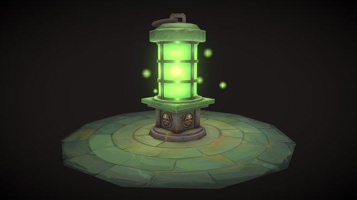Hand Painted Lantern 3D Model