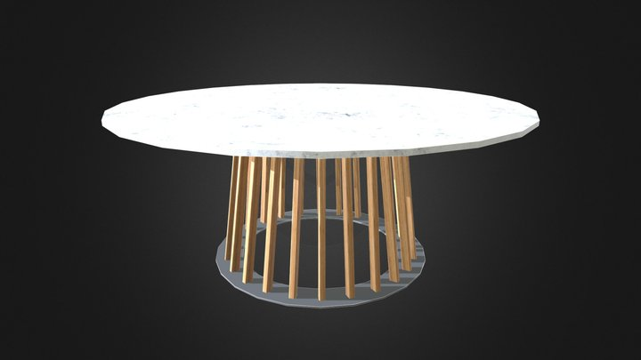 Villa Dining Table by ZIENTTE 3D Model