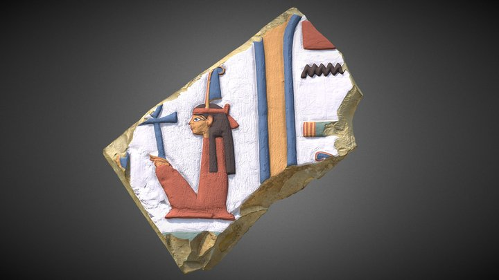 Polychrome Relief Depiction of Ma'at 3D Model