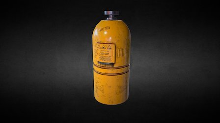 Dangerous Gas Bottle 3D Model