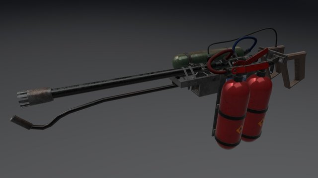 Lance Flammes 3D Model